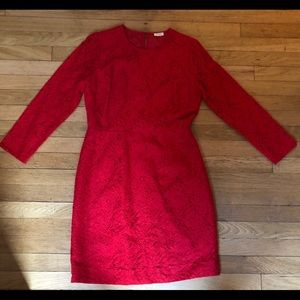 Perfect Holiday Dress- Red Lace